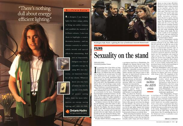 Article Preview: Sexuality on the stand, December 1993 | Maclean's