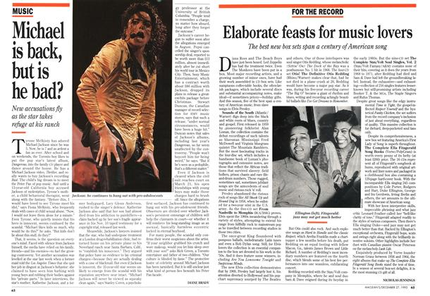 Article Preview: Elaborate feasts for music lovers, December 1993 | Maclean's
