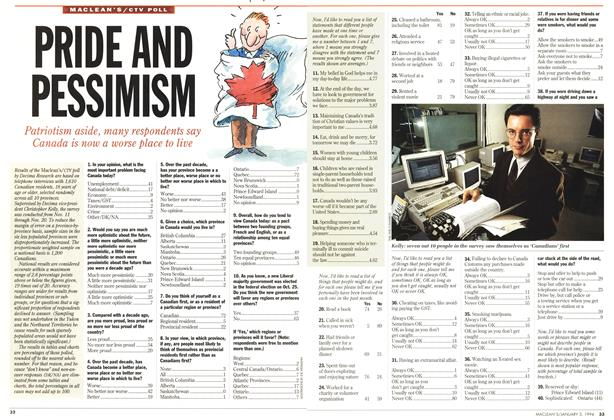 Article Preview: PRIDE AND PESSIMISM, January 1994 | Maclean's