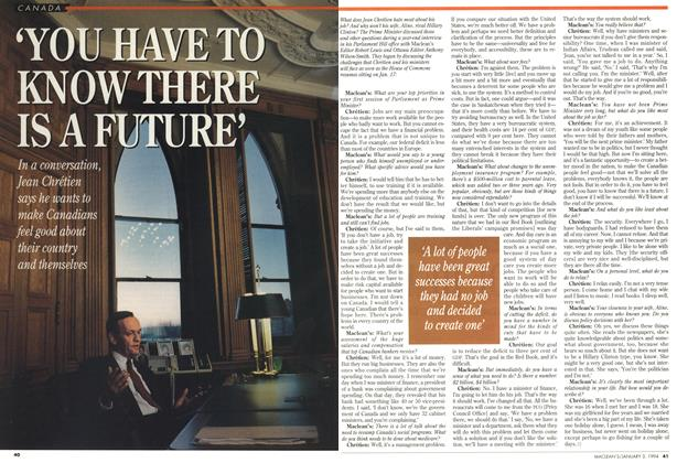 Article Preview: 'YOU HAVE TO KNOW THERE IS A FUTURE', January 1994 | Maclean's