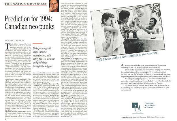 Article Preview: Prediction for 1994: Canadian neo-punks, January 1994   Maclean's