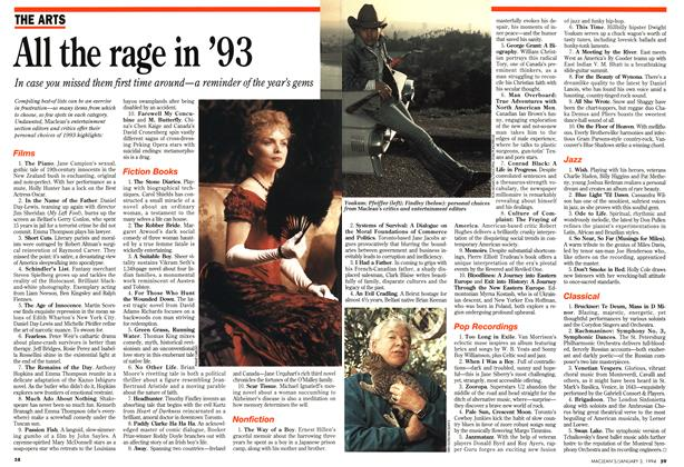 Article Preview: All the rage in '93, January 1994 | Maclean's