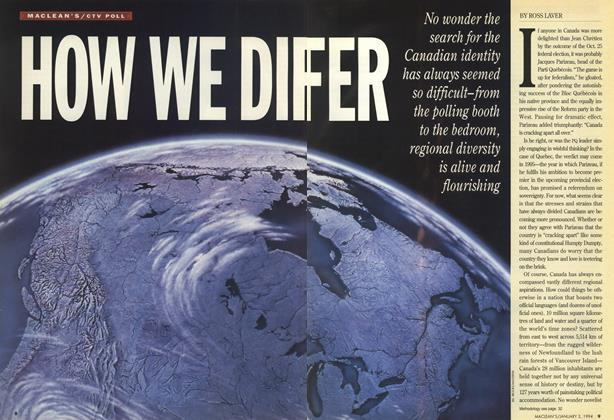 Article Preview: HOW WE DIFFER, January 1994 | Maclean's