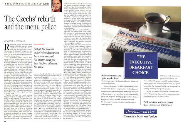 Article Preview: The Czechs' rebirth and the menu police, January 1994 | Maclean's