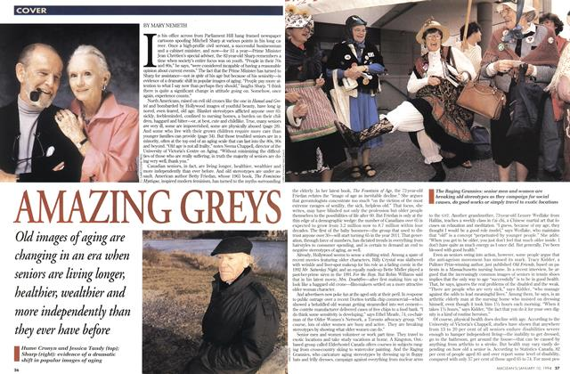 Article Preview: AMAZING GREYS, January 1994 | Maclean's