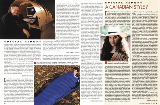 Article Preview: A CANADIAN STYLE?, January 1994 | Maclean's