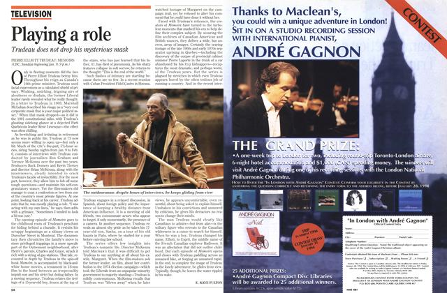 Article Preview: Playing a role, January 1994 | Maclean's