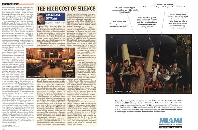 Article Preview: THE HIGH COST OF SILENCE, January 1994 | Maclean's
