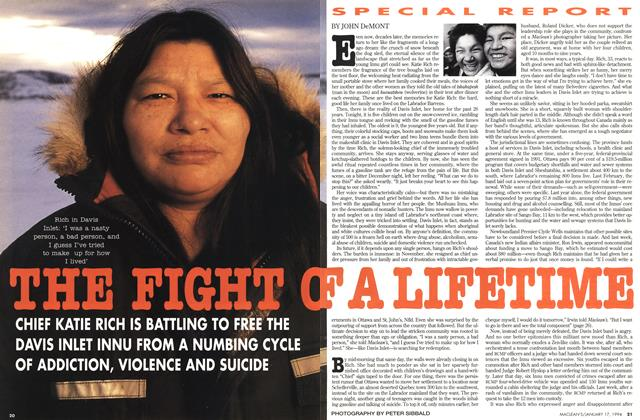 Article Preview: THE FIGHT OF A LIFETIME, January 1994 | Maclean's