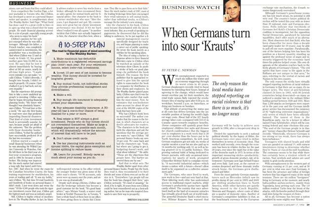 Article Preview: When Germans turn into sour 'Krauts', January 1994 | Maclean's