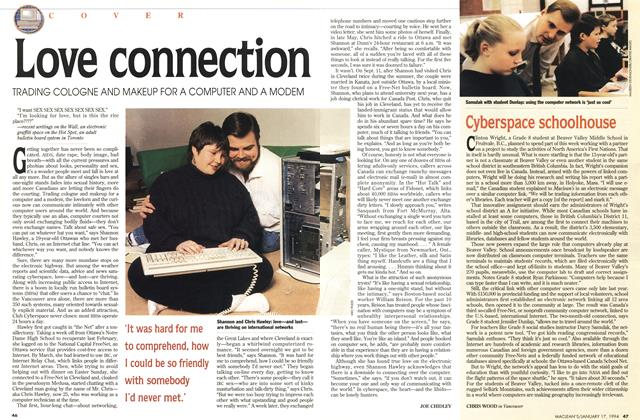 Article Preview: Love connection, January 1994 | Maclean's