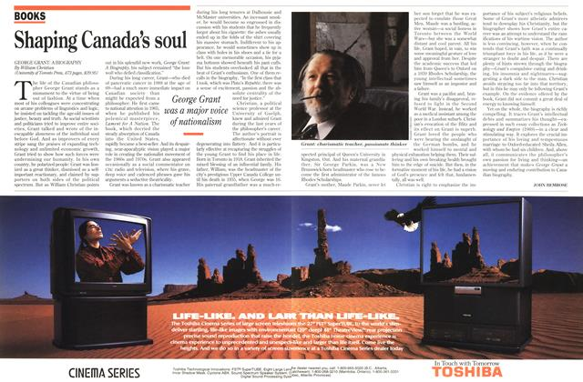 Article Preview: Shaping Canada's soul, January 1994 | Maclean's