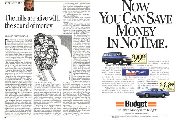 Article Preview: The hills are alive with the sound of money, January 1994 | Maclean's