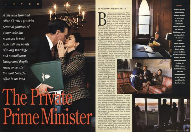 Article Preview: The Private Prime Minister, January 1994 | Maclean's