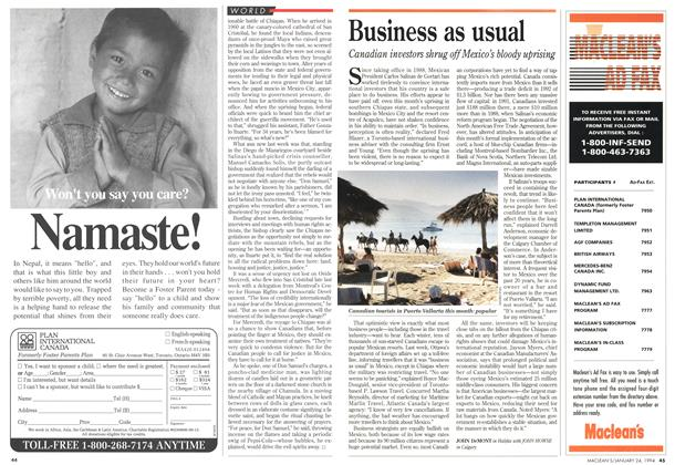 Article Preview: Business as usual, January 1994 | Maclean's