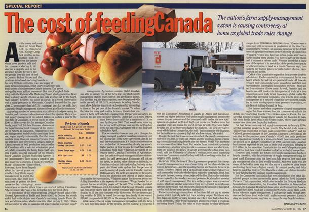 Article Preview: The cost of feeding Canada, January 1994 | Maclean's