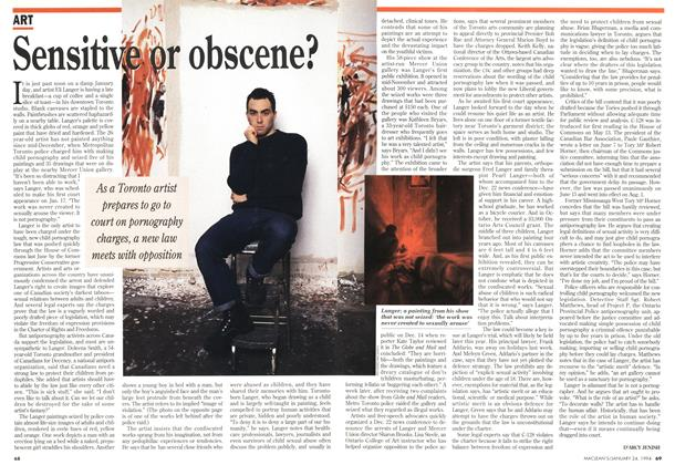 Article Preview: Sensitive or obscene?, January 1994 | Maclean's