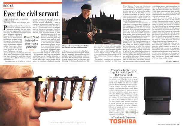 Article Preview: Ever the civil servant, January 1994 | Maclean's