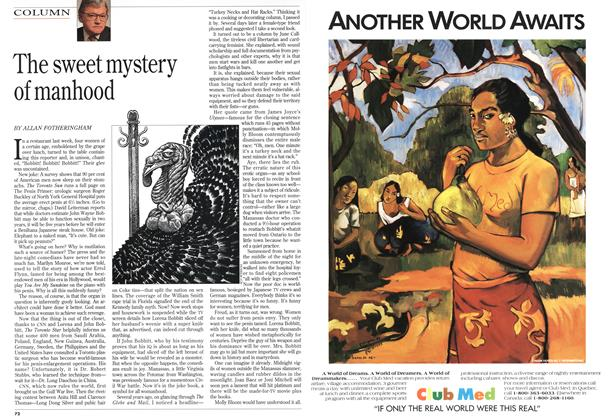 Article Preview: The sweet mystery of manhood, January 1994 | Maclean's