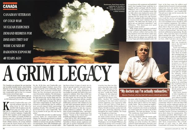 Article Preview: A GRIM LEGACY, January 1994 | Maclean's