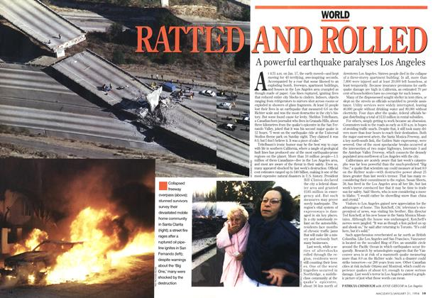 Article Preview: RATTLED AND ROLLED, January 1994 | Maclean's