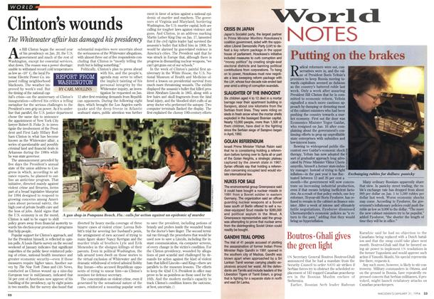 Article Preview: Clinton's wounds, January 1994 | Maclean's