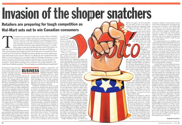 Article Preview: Invasion of the shoper snatchers, January 1994 | Maclean's