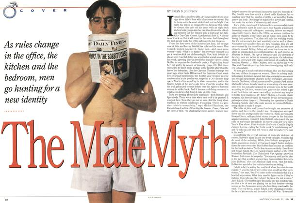 Article Preview: The Male Myth, January 1994 | Maclean's
