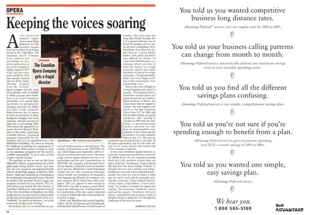 Article Preview: Keeping the voices soaring, January 1994 | Maclean's