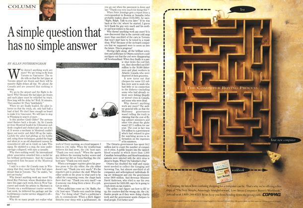 Article Preview: A simple question that has no simple answer, January 1994 | Maclean's