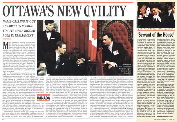 Article Preview: OTTAWA'S NEW OIVILITY, January 1994 | Maclean's
