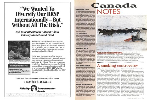 Article Preview: Canada NOTES, February 1994   Maclean's