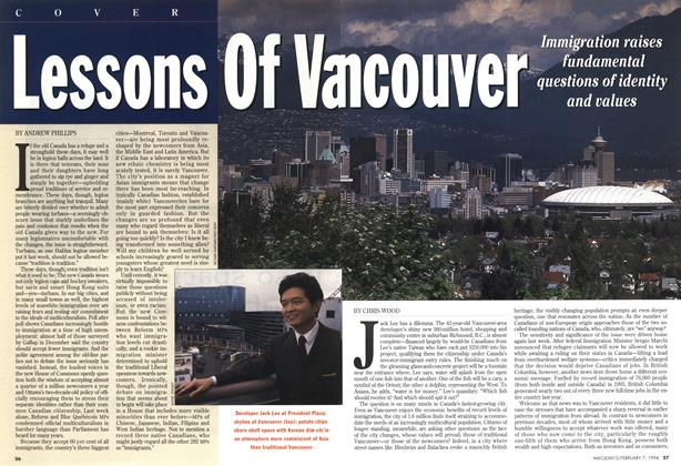 Article Preview: Lessons Of Vancouver, February 1994 | Maclean's