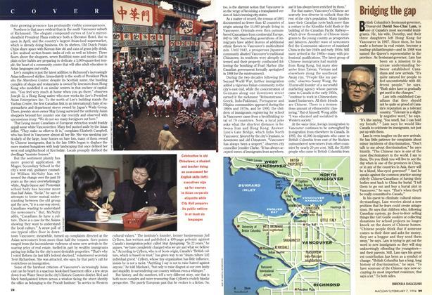Article Preview: Bridging the gap, February 1994 | Maclean's