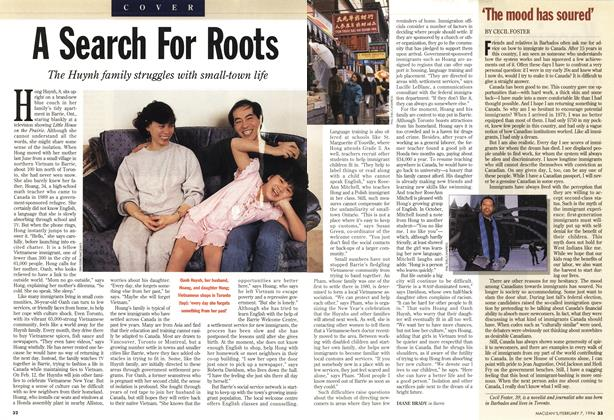 Article Preview: 'The mood has soured', February 1994 | Maclean's