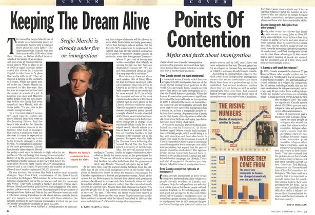 Article Preview: Points Of Contention, February 1994 | Maclean's