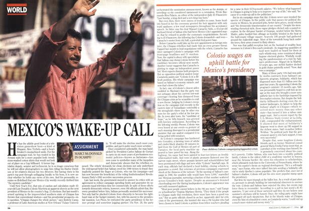 Article Preview: MEXICO'S WAKE-UP CALL, February 1994 | Maclean's