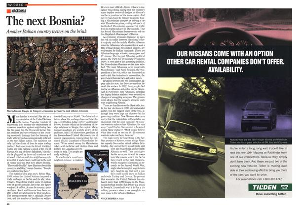 Article Preview: The next Bosnia?, February 1994 | Maclean's