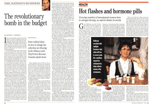 Article Preview: Hot flashes and hormone pills, February 1994 | Maclean's