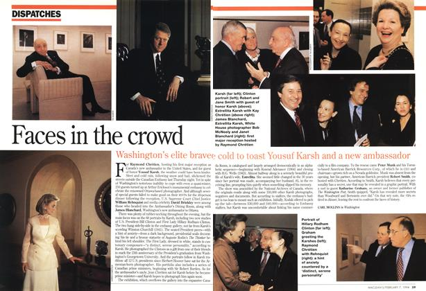 Article Preview: Faces in the crowd, February 1994 | Maclean's