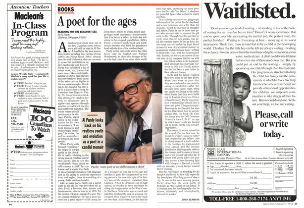 Article Preview: A poet for the ages, February 1994 | Maclean's