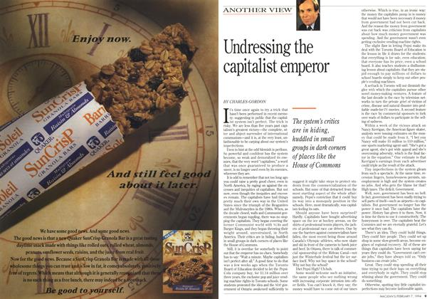 Article Preview: Undressing the capitalist emperor, February 1994 | Maclean's