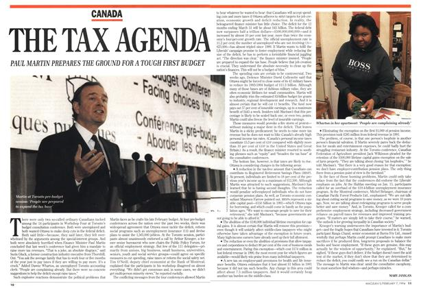 Article Preview: THE TAX AGENDA, February 1994 | Maclean's