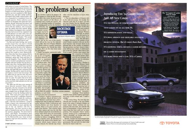 Article Preview: The problems ahead, February 1994 | Maclean's