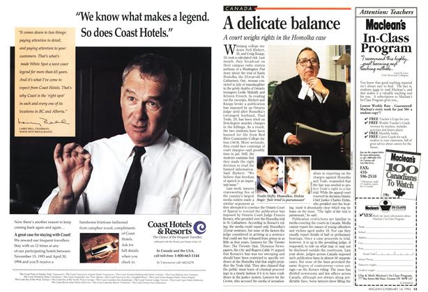 Article Preview: A delicate balance, February 1994 | Maclean's