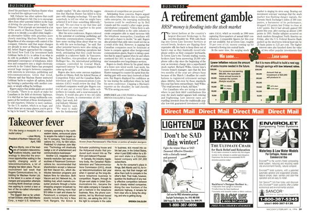 Article Preview: A retirement gamble, February 1994 | Maclean's