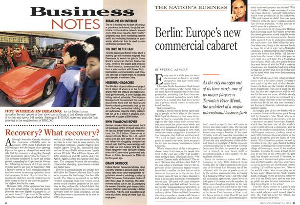 Article Preview: Berlin: Europe's new commercial cabaret, February 1994 | Maclean's