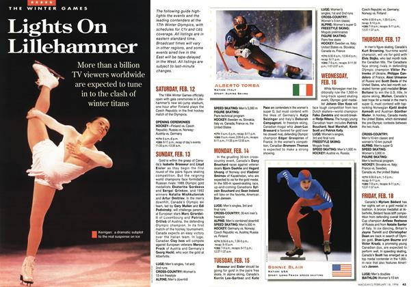 Article Preview: Lights On Lillehammer, February 1994 | Maclean's