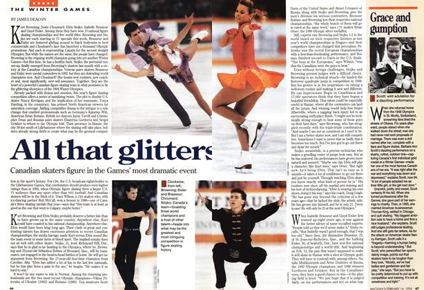 Article Preview: All that glitters, February 1994 | Maclean's