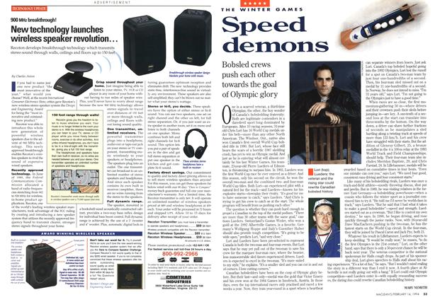 Article Preview: Speed demons, February 1994 | Maclean's